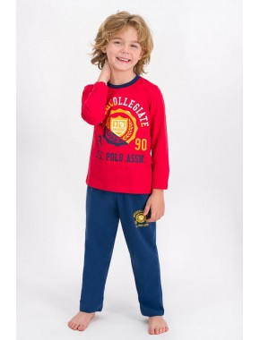 Açık Kırmızı Lisanslı Erkek Çocuk Pijama Takımı