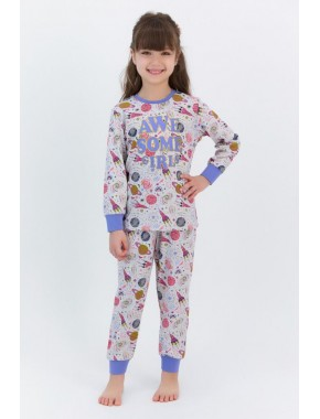 Awsome Girls Karmelanj Kız Çocuk Pijama Takımı