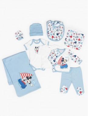 Baby Mickey Mouse Erkek Bebek Yeni Doğan 10 Lu Hastane Çıkış Seti T20Y15476DSN01