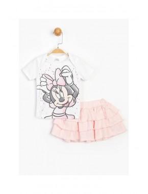 Baby Minnie Mouse Kız Bebek Fırfırlı Etekli 2 Li Takım T20Y15523DSN01