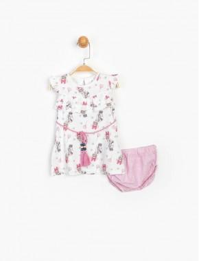 Baby Minnie Mouse Kız Bebek Külotlu Elbise T20Y15487DSN01