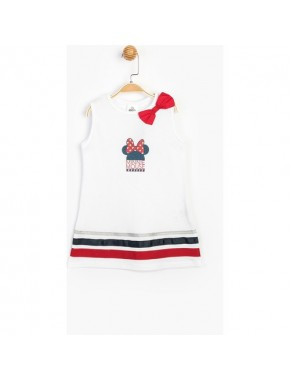 Baby Minnie Mouse Kız Çocuk Fiyonklu Elbise