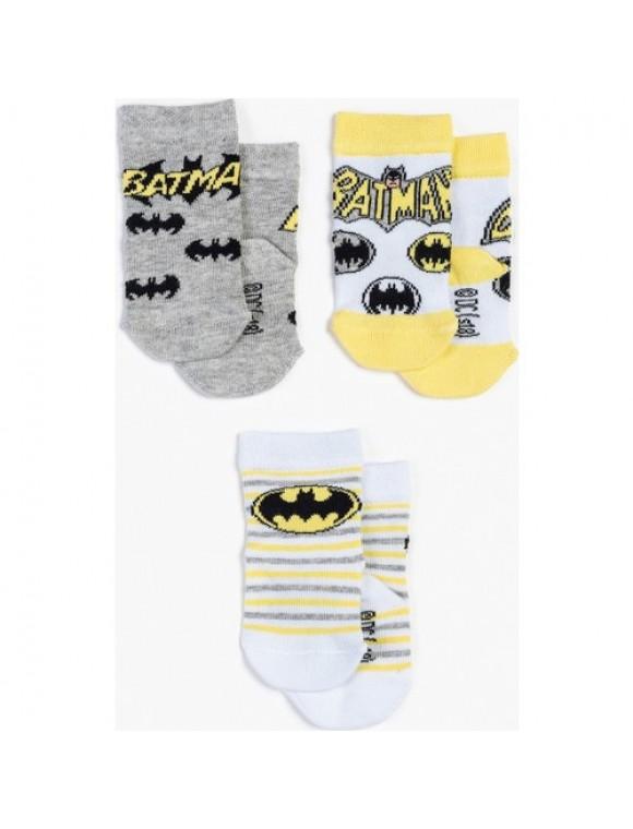 Batman 3'lü Bebek Çorap 12951