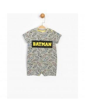 Batman Lisanslı Erkek Bebek Çıtçıtlı Şort Tulum 15580