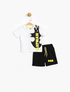 Batman Lisanslı Erkek Bebek Şortlu 2 Li Takım 15588