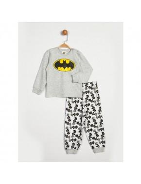Batman Lisanslı Gri Beyaz Çocuk Takımı 13988