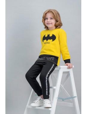 Batman Lisanslı Sarı Erkek Çocuk Eşofman Takımı
