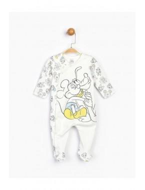 Bebek Beyaz Mickey Bebek Tulum 16189