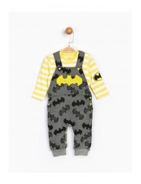 Bebek Gri Sarı  Salopet Takım 16419