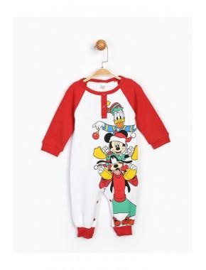 Bebek Kırmzı Mickey Patiksiz Bebek Tulum 16180