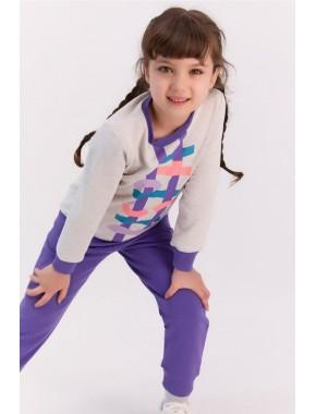 Bejmelanj Mor Kız Çocuk Eşofman Takımı
