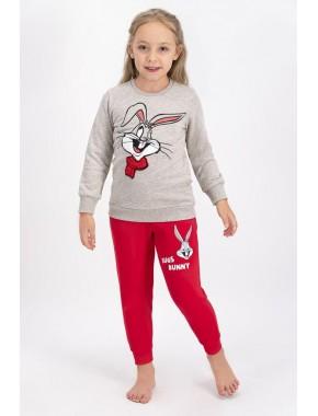 Bugs Bunny Lisanslı Bejmelanj Kız Çocuk Eşofman Takımı