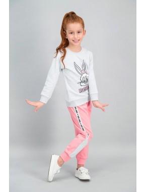 Bugs Bunny Lisanslı Karmelanj Kız Çocuk Eşofman Takımı V1
