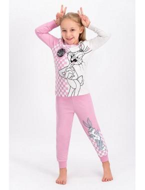 Bugs Bunny Lisanslı Kremmelanj Lisanslı Kız Çocuk Pijama Takımı