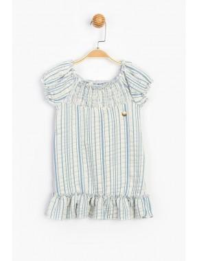 Büzgü Yaka Çocuk Elbise 15794 T20Y15794PNL01
