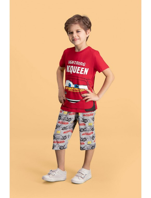 Cars Lisanslı Kırmızı Erkek Çocuk Kapri 2'li Takım D4148-C-V1