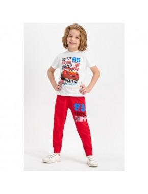 Cars Lisanslı Krem Erkek Çocuk Pijama Takımı