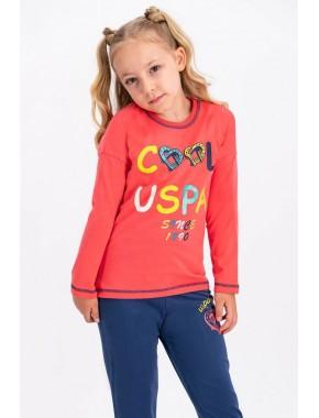 Çiçeği Lisanslı Kız Çocuk Pijama Takımı