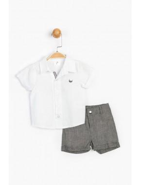 Çocuk Gömlek Şort Takım 15720 BPN15720-20Y1