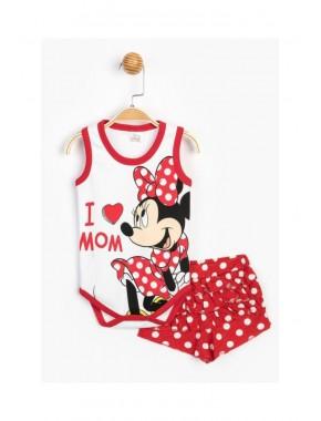 Disney Baby Kız Bebek Minnie Mouse Lisanslı Şortlu 2 Li Takım T20Y15631DSN01