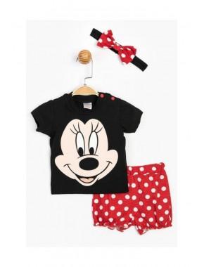 Disney Baby Kız Bebek Minnie Mouse Saç Bantlı Şortlu Takım T20Y15632DSN01