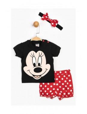 Disney Baby Kız Bebek Minnie Mouse Saç Bantlı Şortlu Takım