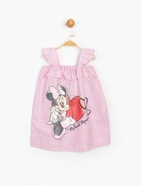 Disney Baby Minnie Mouse Askılı Kız Bebek Elbise 15490