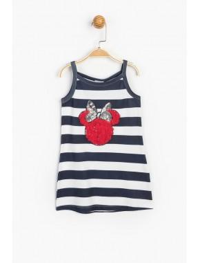 Disney Baby Minnie Mouse Kız Çocuk Askılı Pul Detaylı Elbise T20Y15506DSN01