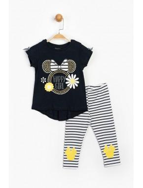 Disney Baby Minnie Mouse Taş Baskılı Kız Çocuk 2 Li Takım T20Y15517DSN01