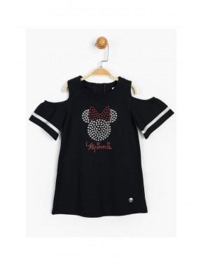 Disney Baby Minnie Mouse Taş Baskılı Kız Çocuk Elbise T20Y15516DSN01