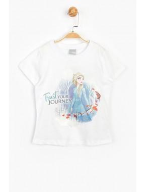 Disney Lisanslı Frozen Karlar Ülkesi Çocuk Tişört 15616