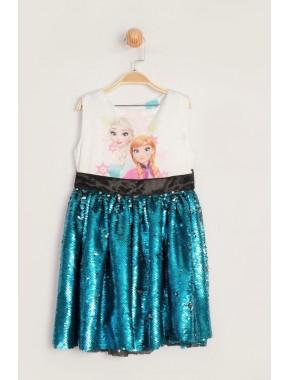 Disney Lisanslı Frozen Elbise 15858