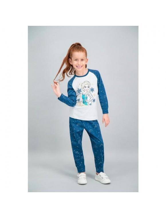 Disney Frozen Lisanslı Karmelanj Kız Çocuk Pijama Takımı