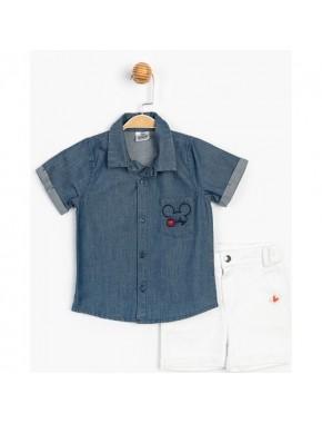 Disney Gömlekli Kot Şortlu Takım 15460