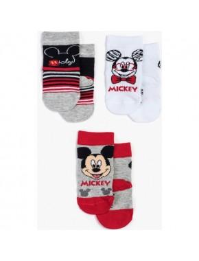 Disney Mickey Mouse 3'lü Bebek Çorap 12949
