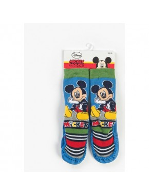 Disney Mickey Mouse Bebek Patikli Çorap Mavi-Yeşil 13185