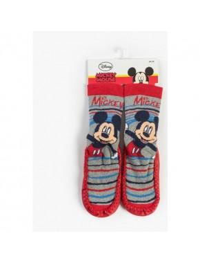 Disney Mickey Mouse Bebek Patikli Çorap Kırmızı 13185
