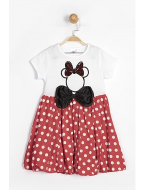 Disney Minnie Çocuk Elbise 15551 BMN15551-20Y1