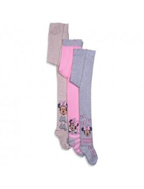 Disney Minnie Mouse 3'lü Çocuk Külotlu Çorap 12465