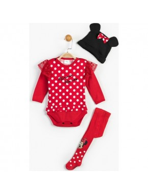 Disney Minnie Mouse Bebek 3'Lü Takım 13466