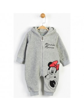 Disney Minnie Mouse Bebek Kapüşonlu Tulum 13477