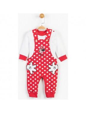 Disney Minnie Mouse Bebek Salopet Takım 13469