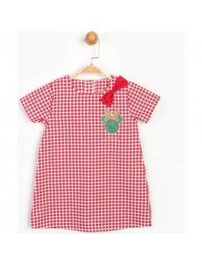 Disney Sim Baskılı Fiyonklu Elbise 15507
