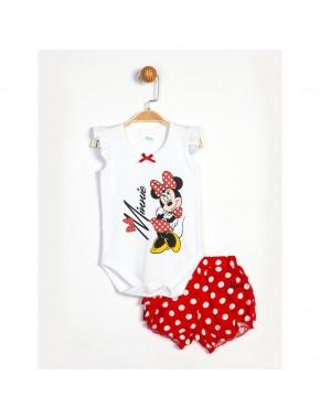 Disney Minnie Mouse Bebek Şortlu Takım 13955