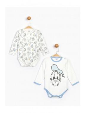 Erkek Bebek Ekru Disney 2'li Bebek Body 16185