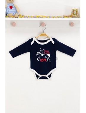 Erkek Bebek Lisanslı Lacivert Bebek Body Zıbın