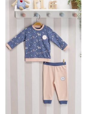 Erkek Bebek Mavi Takım
