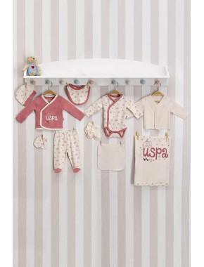 Erkek Bebek Pembe Bebek Hastane Çıkış Seti 10 Lu