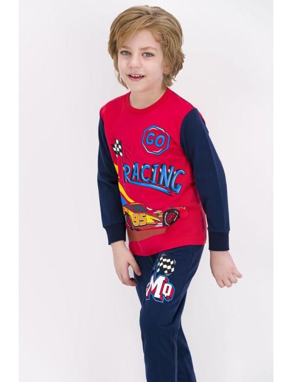 Erkek Çocuk Açık Kırmızı Lisanslı Pijama Takımı