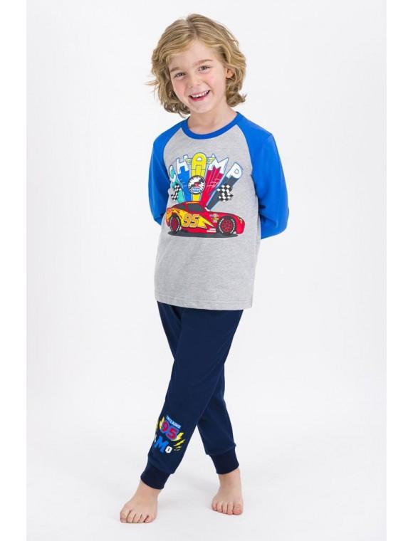 Erkek Çocuk Gri Melanj Pijama Takımı